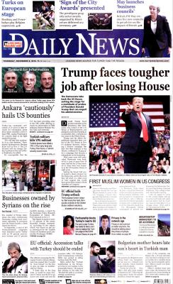 HÜRRİYET DAİLY NEWS - 08 Kasım 2018