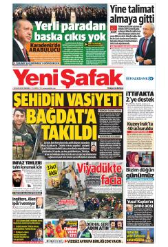YENİ ŞAFAK - 29 Kasım 2018