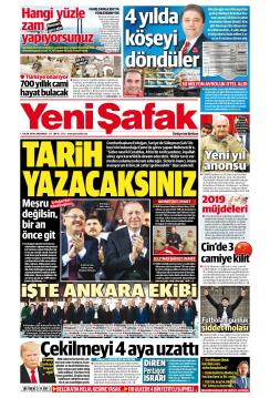 YENİ ŞAFAK - 02 Ocak 2019