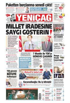 Türkiye'de Yeni Çağ - 11 Nisan 2019