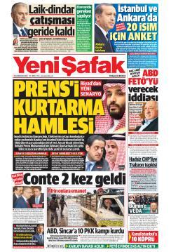 YENİ ŞAFAK - 16 Kasım 2018