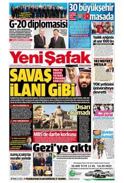 YENİ ŞAFAK - 01 Aralık 2018