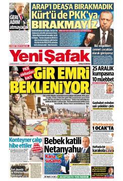 YENİ ŞAFAK - 25 Aralık 2018