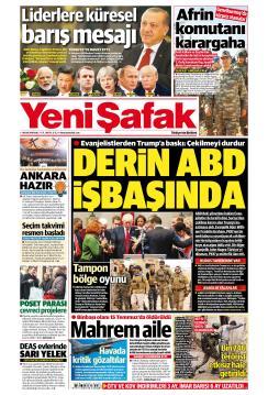 YENİ ŞAFAK - 01 Ocak 2019