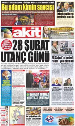 YENİ AKİT - 01 Mart 2019