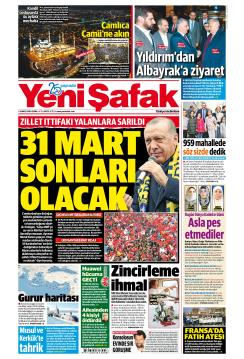 YENİ ŞAFAK - 08 Mart 2019