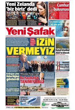 YENİ ŞAFAK - 23 Mart 2019