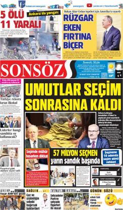 SONSÖZ - 30 Mart 2019