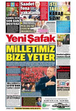 YENİ ŞAFAK - 30 Mart 2019
