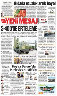 YENİ MESAJ - 15 Mayıs 2019