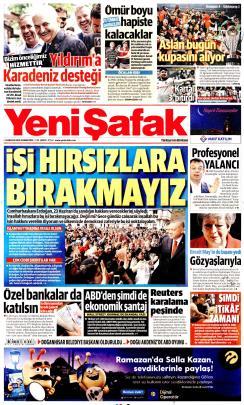 YENİ ŞAFAK - 25 Mayıs 2019