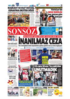 SONSÖZ - 03 Temmuz 2019