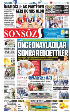 SONSÖZ - 04 Temmuz 2019