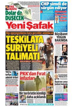 YENİ ŞAFAK - 29 Temmuz 2019