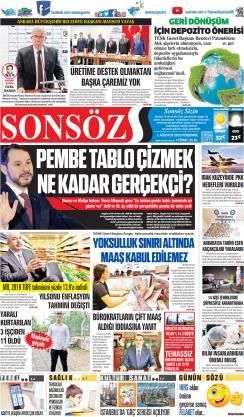 SONSÖZ - 01 Ağustos 2019