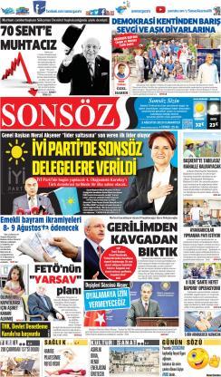 SONSÖZ - 03 Ağustos 2019