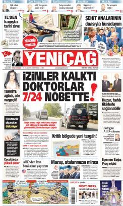 Türkiye'de Yeni Çağ - 21 Eylül 2019