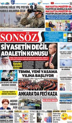 SONSÖZ - 01 Ekim 2019