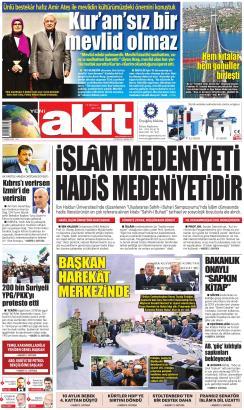 YENİ AKİT - 04 Kasım 2019