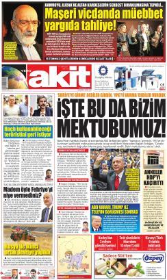 YENİ AKİT - 06 Kasım 2019