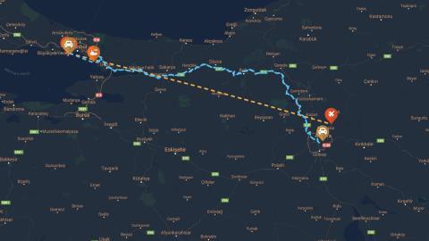 CHP Leader Kılıçdaroğlu's Route