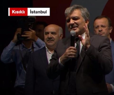 Abdullah Gül Kısıklı'da halka seslendi