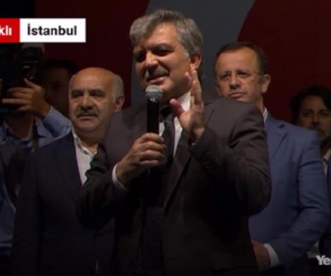 Abdullah Gül gave a speech in Kısıklı