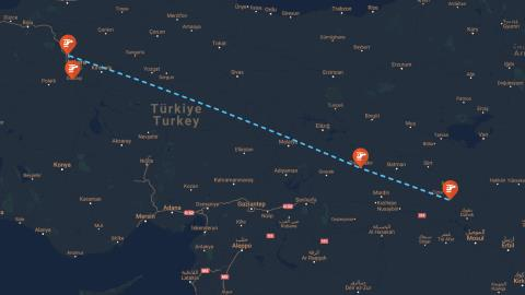 Semih Terzi's Route