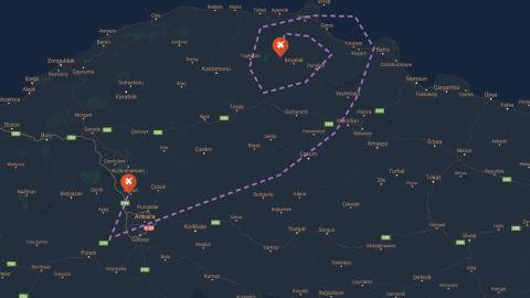 Low Altitude Flights Over The Black Sea Region