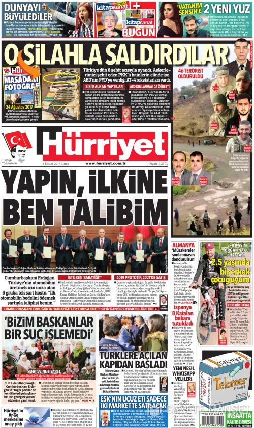 Hürriyet Gazetesi Oku Gazete Manşet Gzt Gzt