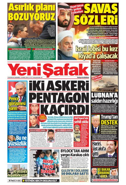 YENİ ŞAFAK - 08 Kasım 2017