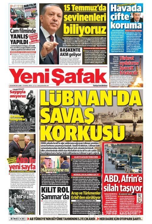 YENİ ŞAFAK - 10 Kasım 2017