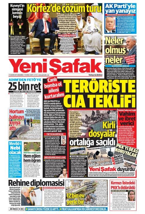YENİ ŞAFAK - 15 Kasım 2017