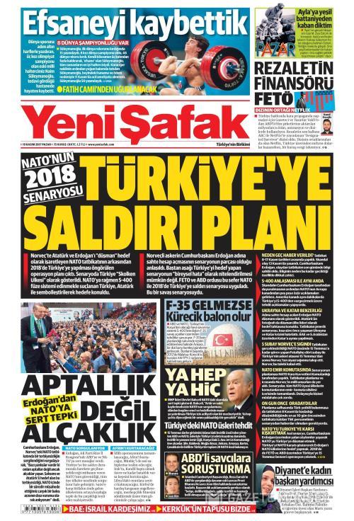YENİ ŞAFAK - 19 Kasım 2017