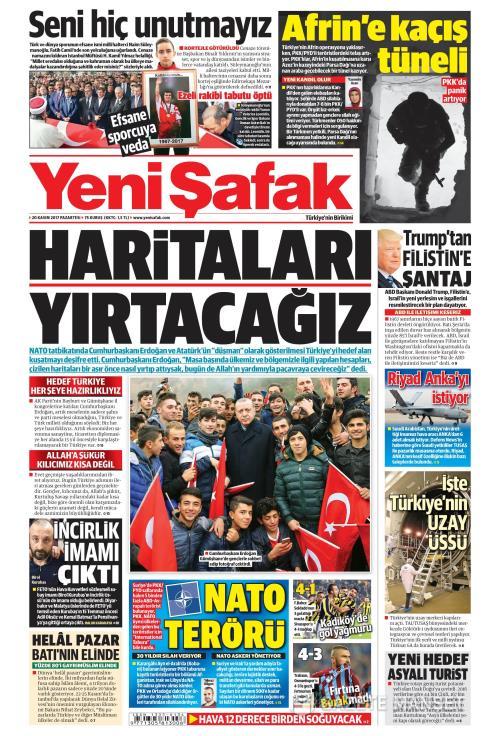 YENİ ŞAFAK - 20 Kasım 2017