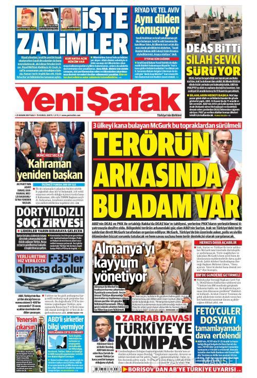 YENİ ŞAFAK - 21 Kasım 2017