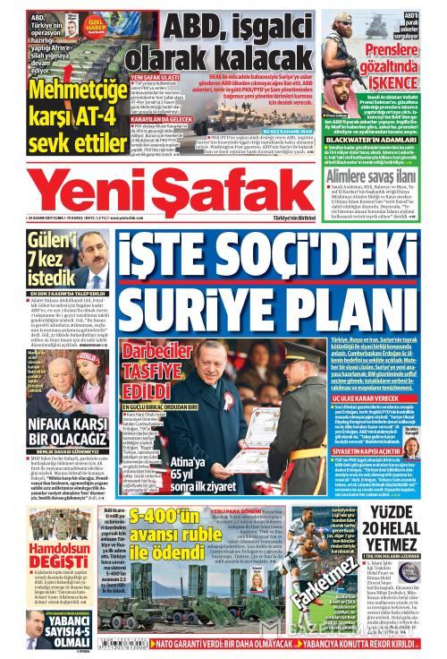YENİ ŞAFAK - 24 Kasım 2017