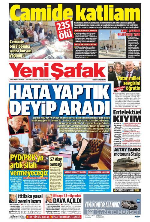 YENİ ŞAFAK - 25 Kasım 2017