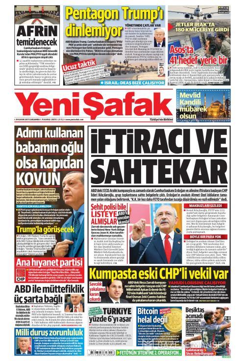 YENİ ŞAFAK - 29 Kasım 2017
