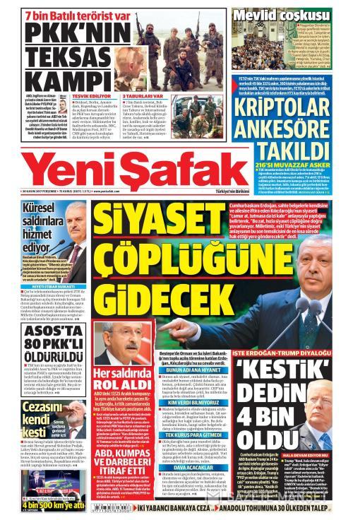 YENİ ŞAFAK - 30 Kasım 2017