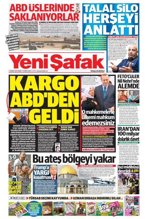 YENİ ŞAFAK - 03 Aralık 2017