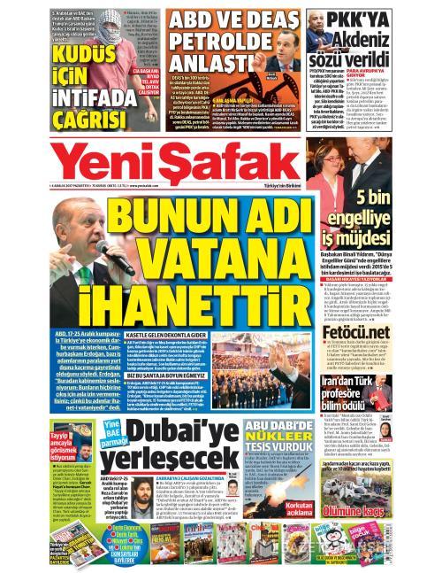 YENİ ŞAFAK - 04 Aralık 2017