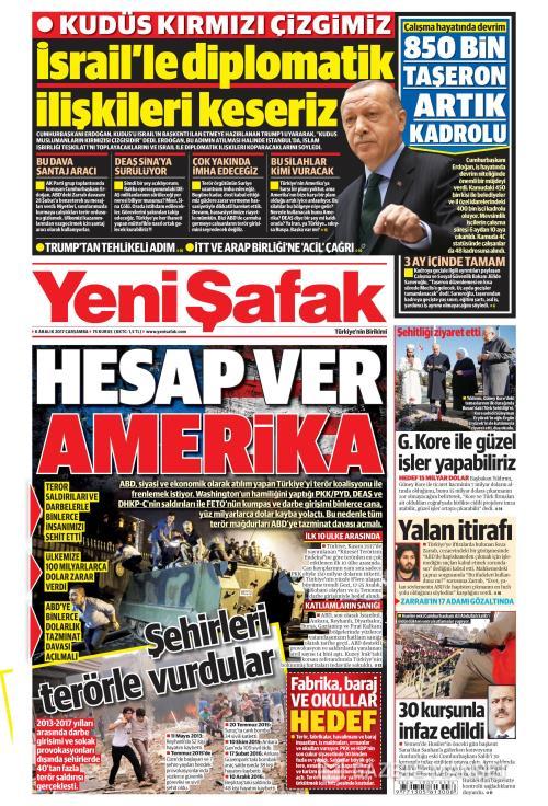 YENİ ŞAFAK - 06 Aralık 2017