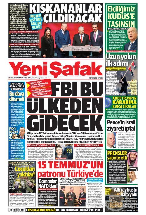 YENİ ŞAFAK - 15 Aralık 2017