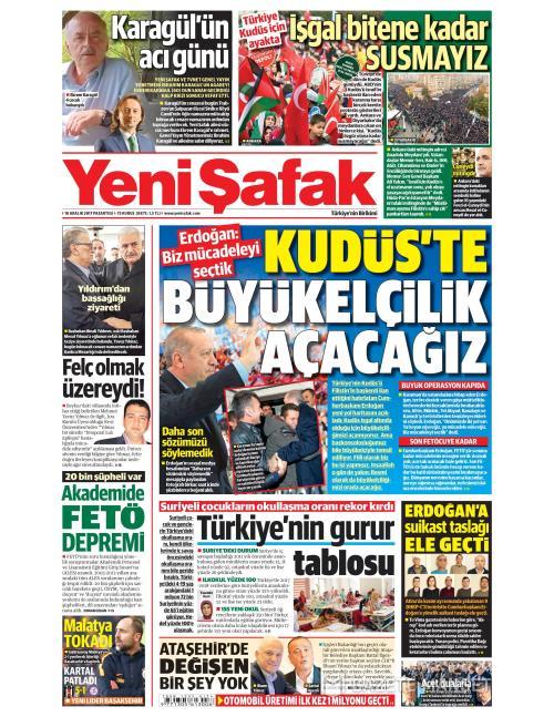 YENİ ŞAFAK - 18 Aralık 2017