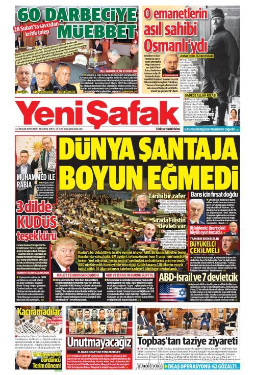 YENİ ŞAFAK - 22 Aralık 2017