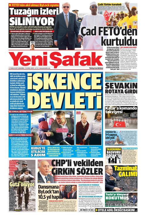 YENİ ŞAFAK - 27 Aralık 2017