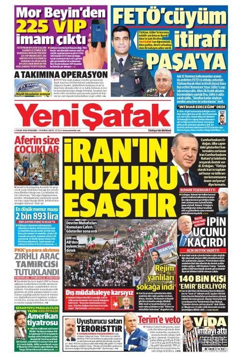 YENİ ŞAFAK - 04 Ocak 2018