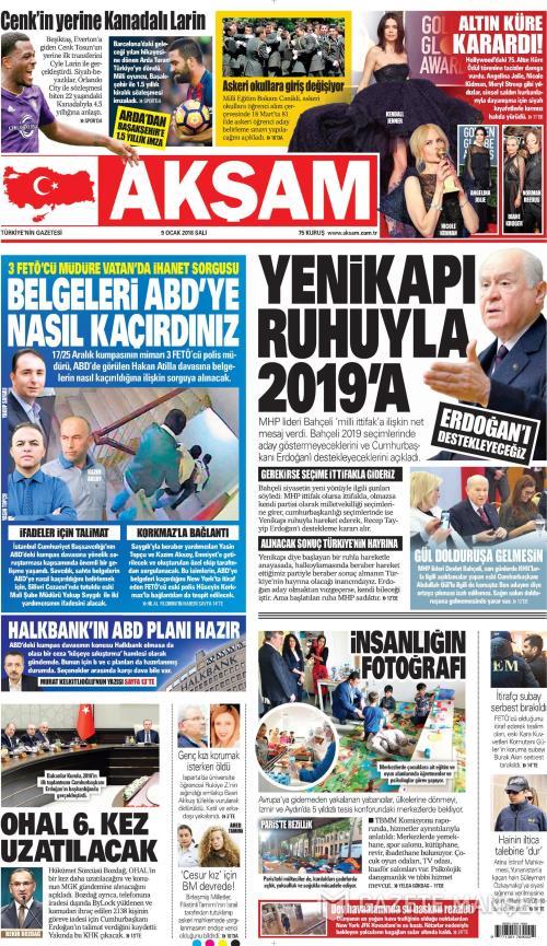 AKŞAM - 09 Ocak 2018