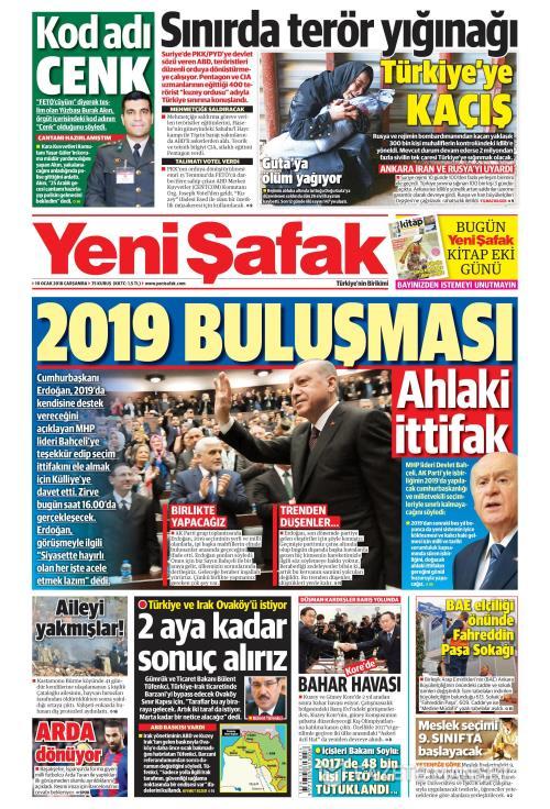 YENİ ŞAFAK - 10 Ocak 2018